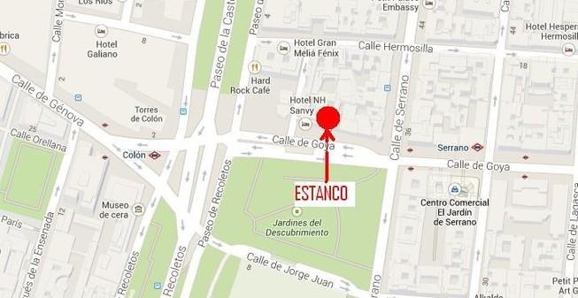 Calle Serrano Madrid Mapa.Estanco De Tabacos Expendeduria 846 De Madrid Donde Estamos